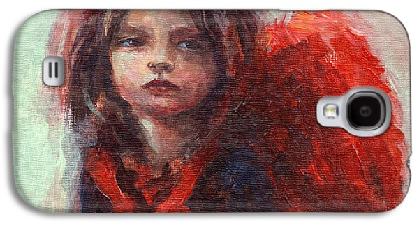 Impressionism Drawings Galaxy S4 Cases - Little angel Galaxy S4 Case by Svetlana Novikova