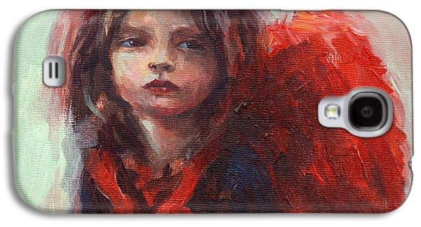 Girl Galaxy S4 Cases - Little angel Galaxy S4 Case by Svetlana Novikova