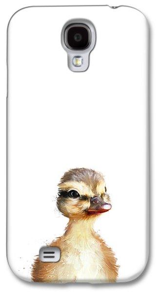 Fauna Galaxy S4 Cases - Little Duck Galaxy S4 Case by Amy Hamilton