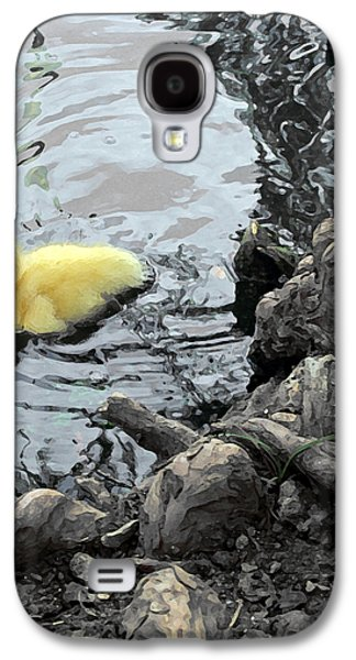Tree Roots Mixed Media Galaxy S4 Cases - Little Ducky 2 Galaxy S4 Case by Angelina Vick