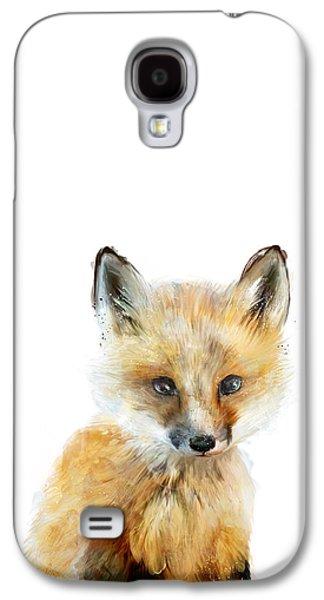 Fauna Galaxy S4 Cases - Little Fox Galaxy S4 Case by Amy Hamilton