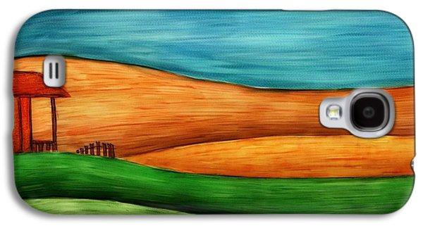 Hattiesburg Galaxy S4 Cases - Little House on Hill Galaxy S4 Case by Brenda Bryant