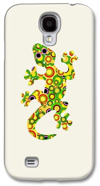 Little Girls Mixed Media Galaxy S4 Cases - Little Lizard - Animal Art Galaxy S4 Case by Anastasiya Malakhova