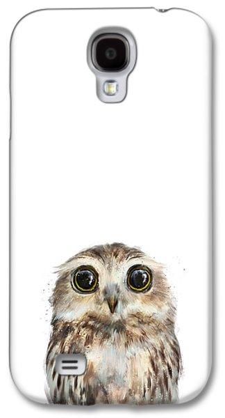 Fauna Galaxy S4 Cases - Little Owl Galaxy S4 Case by Amy Hamilton