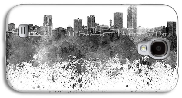 Arkansas Paintings Galaxy S4 Cases - Little Rock skyline in black watercolor on white background Galaxy S4 Case by Pablo Romero