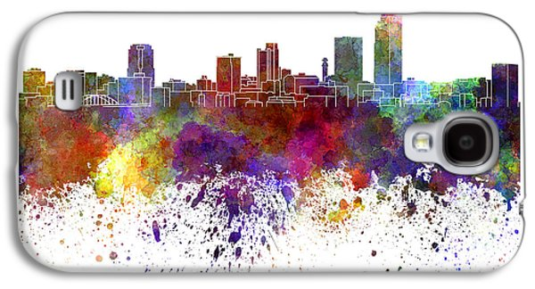 Arkansas Paintings Galaxy S4 Cases - Little Rock skyline in watercolor on white background Galaxy S4 Case by Pablo Romero