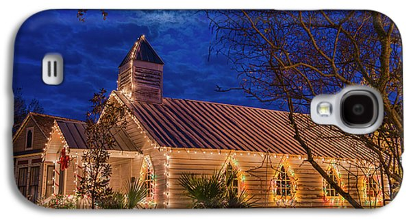 Little Village Church With Star From Heaven Above The Steeple Galaxy S4 Case by Bonnie Barry