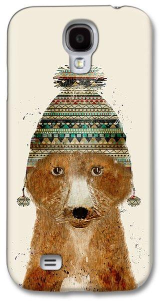 Fox Digital Galaxy S4 Cases - Little Winter Fox Galaxy S4 Case by Bri Buckley