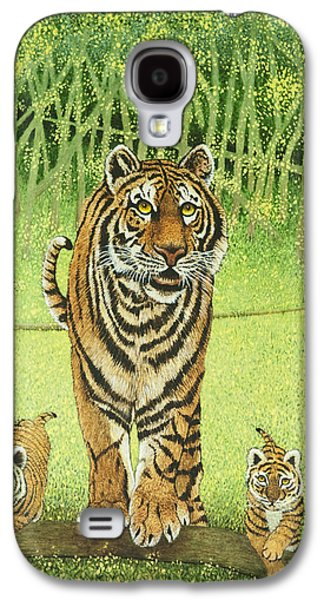 The Tiger Paintings Galaxy S4 Cases - Live and Learn Galaxy S4 Case by Pat Scott