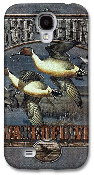 Antiques Paintings Galaxy S4 Cases - Live to Hunt Pintails Galaxy S4 Case by JQ Licensing