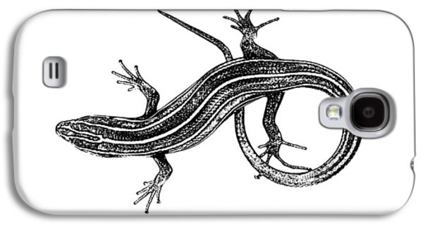 Lounge Drawings Galaxy S4 Cases - Lizard Drawing Galaxy S4 Case by Morgan Carter
