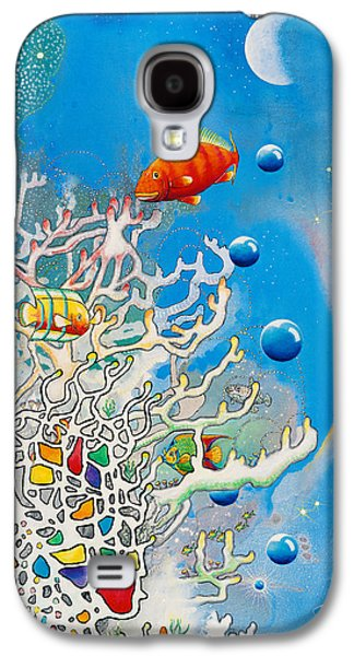 Angel Mermaids Ocean Galaxy S4 Cases - Lizas Reef Galaxy S4 Case by Lee Pantas