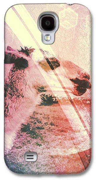 Llama Digital Galaxy S4 Cases - Llamas in Space Galaxy S4 Case by Madison Adams