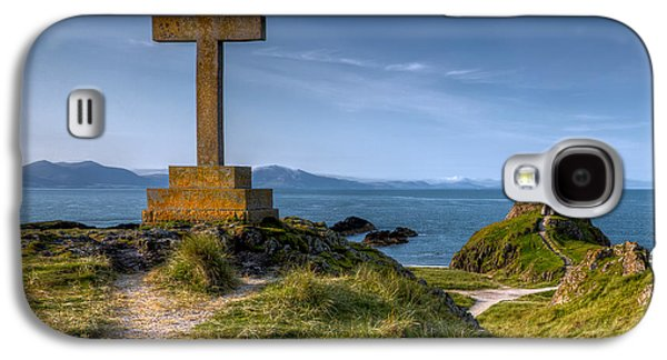 North Wales Digital Art Galaxy S4 Cases - Llanddwyn Cross Galaxy S4 Case by Adrian Evans