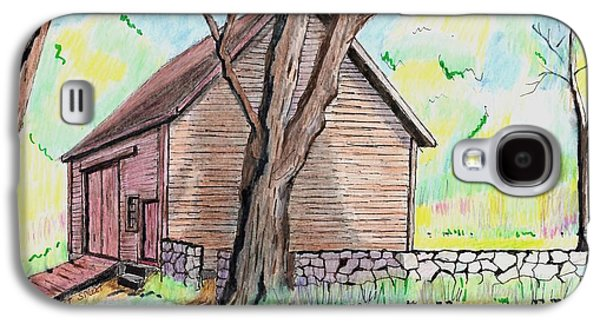 Old Barn Drawing Drawings Galaxy S4 Cases - Locust Street Ild Barn Galaxy S4 Case by Paul Meinerth