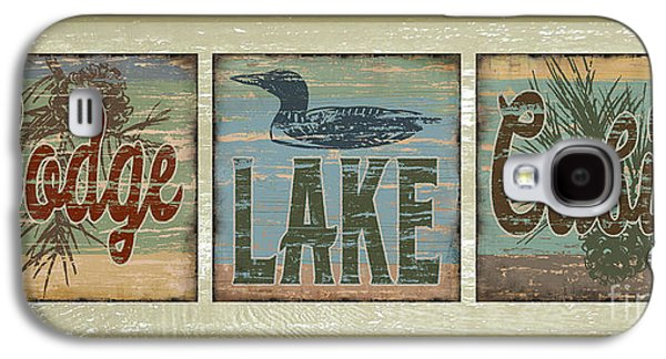 Lodge Lake Cabin Sign Galaxy S4 Case by Joe Low