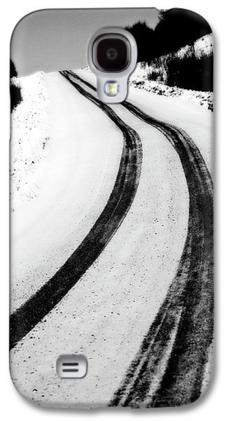 Snow-covered Landscape Digital Art Galaxy S4 Cases - Logging Road In Winter Galaxy S4 Case by Mark Duffy