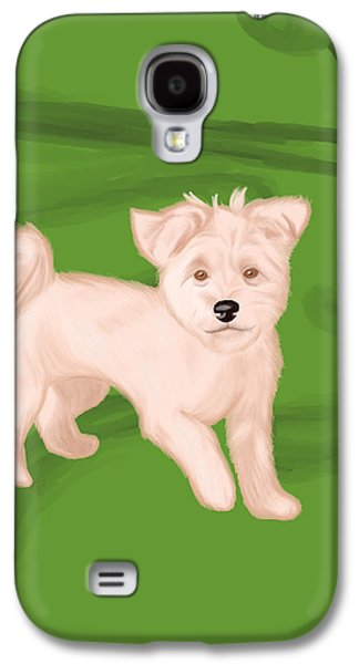 Puppies Galaxy S4 Cases - Lola Galaxy S4 Case by Amy Andujar