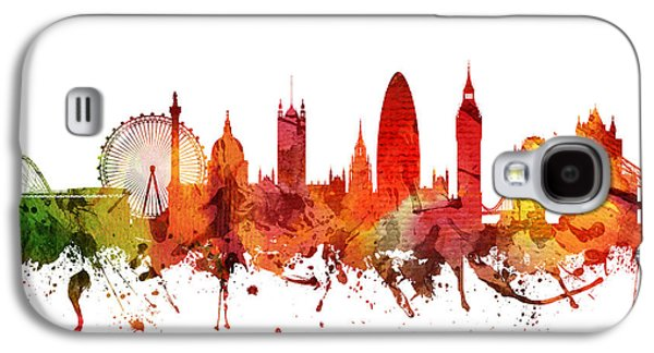 Skylines Drawings Galaxy S4 Cases - London Cityscape 04 Galaxy S4 Case by Aged Pixel