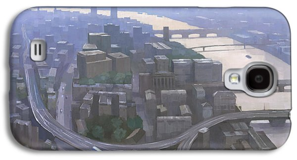 London, Looking West From The Shard Galaxy S4 Case by Steve Mitchell