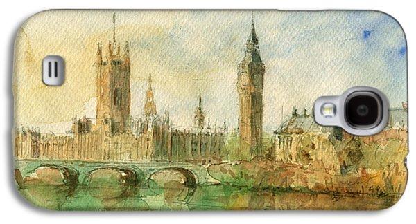 London Parliament Galaxy S4 Case by Juan  Bosco