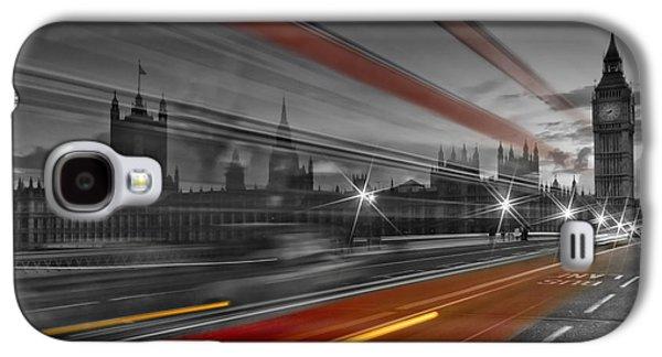London Red Bus Galaxy S4 Case by Melanie Viola