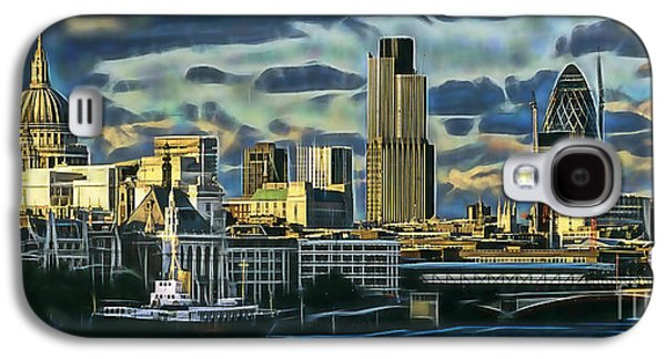 London Skyline Collection Galaxy S4 Case by Marvin Blaine