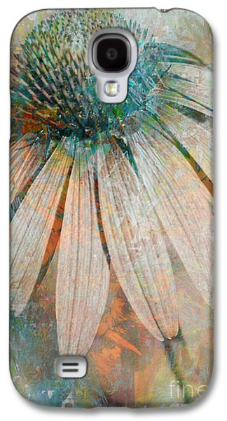 Abstracted Coneflowers Digital Galaxy S4 Cases - Lone Coneflower Galaxy S4 Case by T Anderson