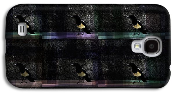 Nature Abstracts Galaxy S4 Cases - Long-tailed crow Galaxy S4 Case by Damijana Cermelj