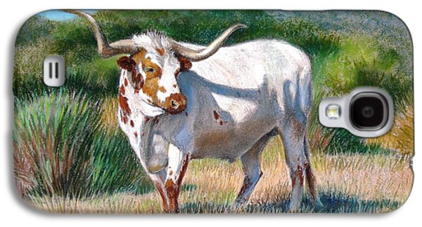 Universities Pastels Galaxy S4 Cases - Longhorn Bull Galaxy S4 Case by Sue Halstenberg