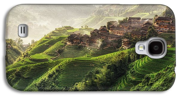 Landscapes Photographs Galaxy S4 Cases - Longji Rice Terrace  Galaxy S4 Case by Insung Choi