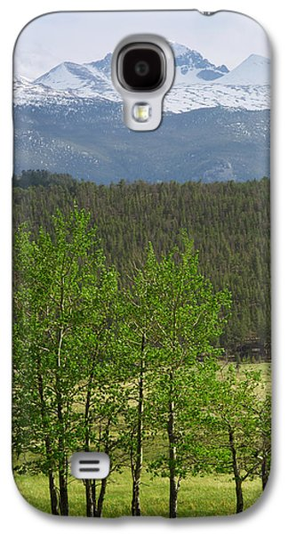 Lady Washington Galaxy S4 Cases - Longs Peak from Moraine Park - Spring Galaxy S4 Case by Aaron Spong