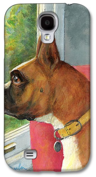 Boxer Galaxy S4 Cases - Looking Out Galaxy S4 Case by Edward Farber