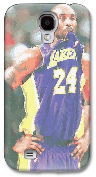 Los Angeles Lakers Kobe Bryant 3 Galaxy S4 Case by Joe Hamilton
