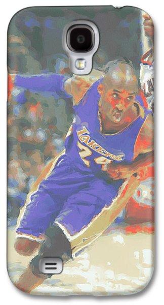 Los Angeles Lakers Kobe Bryant Galaxy S4 Case by Joe Hamilton