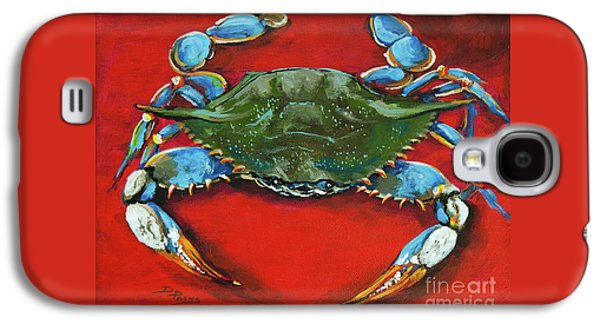Food Galaxy S4 Cases - Louisiana Blue on Red Galaxy S4 Case by Dianne Parks
