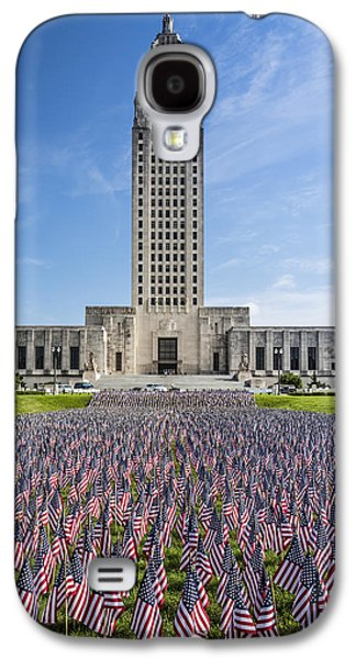 Louisiana Memorial Day Flags Galaxy S4 Case by Andy Crawford