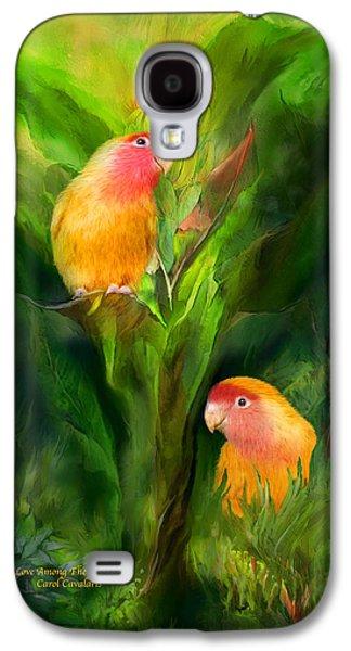 Tree Print Mixed Media Galaxy S4 Cases - Love Among The Bananas Galaxy S4 Case by Carol Cavalaris