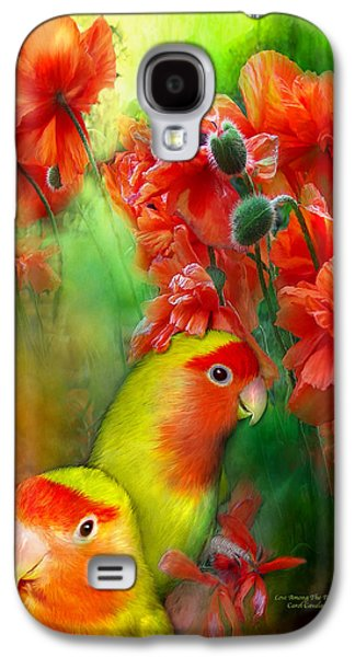 Love Among The Poppies Galaxy S4 Case by Carol Cavalaris