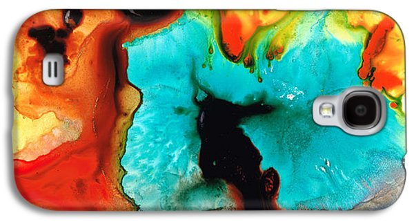 Abstract Art Canvas Paintings Galaxy S4 Cases - Love And Approval Galaxy S4 Case by Sharon Cummings
