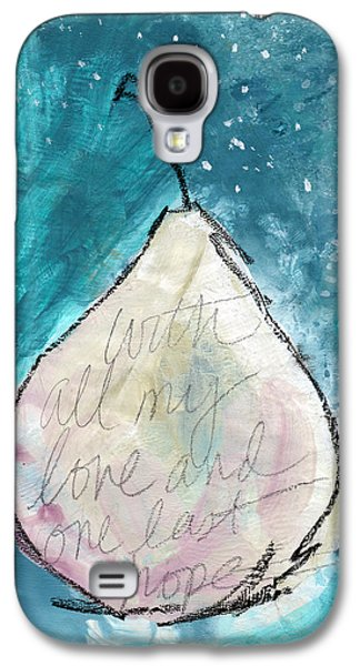 Love And Hope Pear- Art By Linda Woods Galaxy S4 Case by Linda Woods