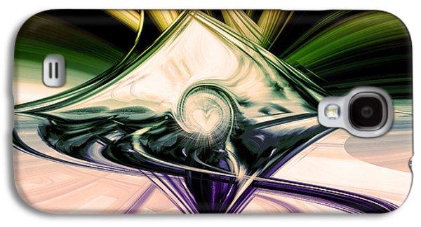 Abstract Digital Digital Art Galaxy S4 Cases - Love And Light Galaxy S4 Case by Linda Sannuti