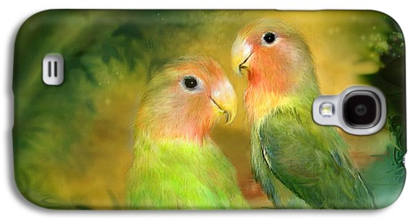 Love In The Golden Mist Galaxy S4 Case by Carol Cavalaris