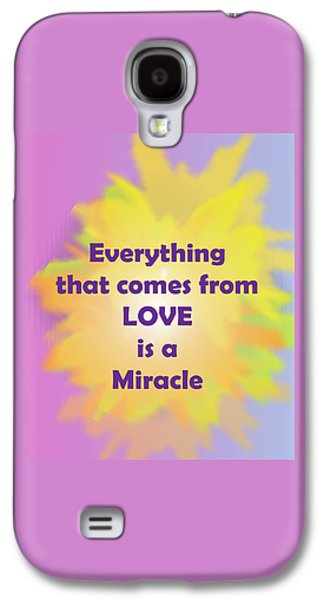 Quaker Digital Galaxy S4 Cases - Love is a Miracle Galaxy S4 Case by John Vincent Palozzi