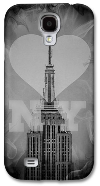 Featured Art Galaxy S4 Cases - Love New York BW Galaxy S4 Case by Az Jackson