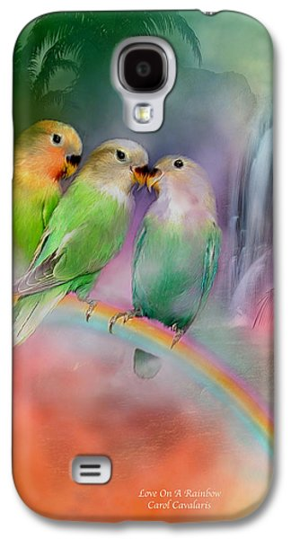 Love On A Rainbow Galaxy S4 Case by Carol Cavalaris
