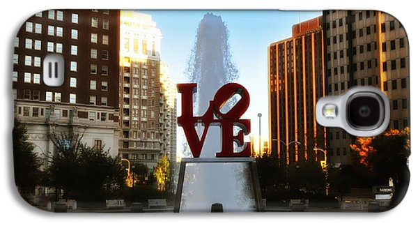 Phillies Digital Galaxy S4 Cases - Love Park - Love Conquers All Galaxy S4 Case by Bill Cannon