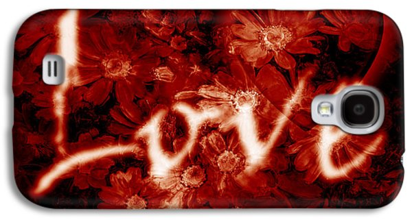 Love With Flowers Galaxy S4 Case by Phill Petrovic