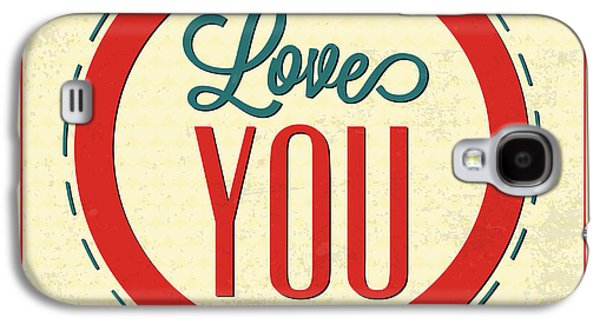 Laugh Galaxy S4 Cases - Love You Forever Galaxy S4 Case by Naxart Studio