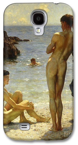 Lovers Of The Sun Galaxy S4 Case by Henry Scott Tuke